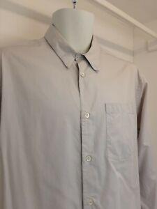 Margaret Howell Men's L White Long Sleeved 3/4 Buttoned Shirt
