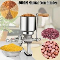 Cast Iron Mill Grinder Hand Crank Manual Grains Oats Corn Wheat Coffee Nuts Tool