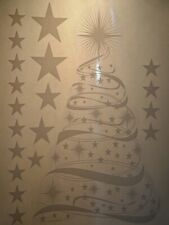 Christmas Tree and Stars Sheet of Window Clings
