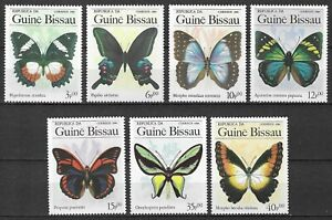 Guinea Bissau 1984 Insects Butterfly Schmetterlinge Papillons compl. set MNH