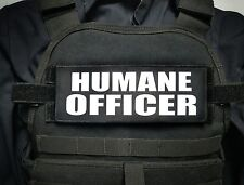 """3x8"""" HUMANE OFFICER Black Hook Plate Carrier Morale Patch Police Animal Control"""
