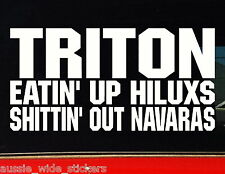 TRITON mq mn Ute bullbar Funny 4x4 Stickers EATIN 200mm