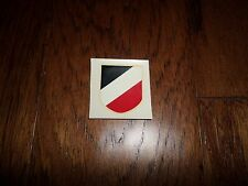 Vintage German Army helmet tricolor decal
