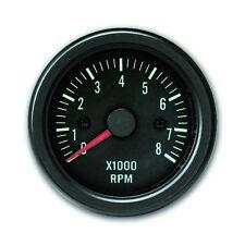 JOM Zusatzinstrument schwarz Youngtimer Drehzahl Messer RPM Anzeige 52mm 0-8000