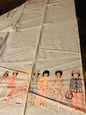 Rare Patty's Paper Doll Fabric by Patty Reed,  Baby Blue 2 Yard