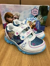 Disney Frozen Elsa-Anna Athletic Running Shoe With Lights Size 9 (Toddler)