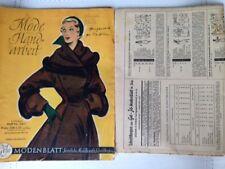 Mode und Handarbeit, Nr. 24, 1950,  komplett mit beiden Schnittmusterbögen