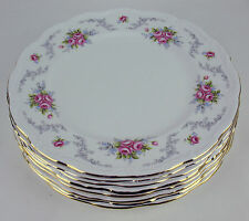 8 x DINNER PLATES Royal Albert TRANQUILLITY tranquility Vintage England (reduced