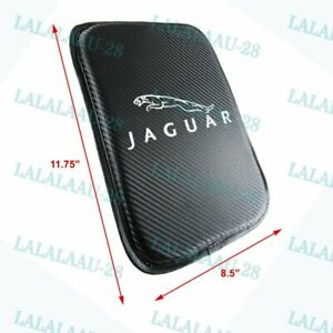 New Embroidery for JAGUAR Carbon Car Centr Console Armrest Cushion Mat Pad Cover