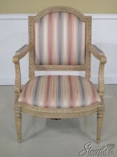 22446E: MINTON - SPIDELL Louis XVI Paint Decorated Arm Chair