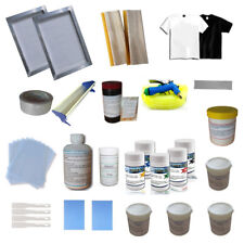 Screen Printing Materials Package Pres Squeegee & Colrful Ink Kit Prit Assistant