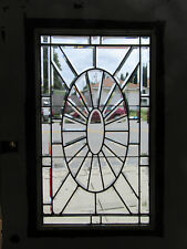 ~ Antique Oak Door With Beveled Leaded Glass ~ 39 X 83 ~ Architectural Salvage ~