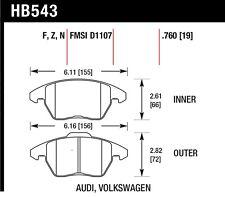 Disc Brake Pad Set-Base Front Hawk Perf HB543F.760