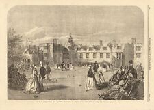 1866-ANTIQUE PRINT-KENT-KNOLE, SEAT OF LORD DELAWARE