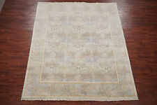 William Morris 8X10 Art & Craft Oushak Hand-Knotted Wool Oriental Area Rug