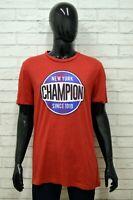 Maglia CHAMPION Uomo Taglia XL Maglietta Shirt Man Cotone Manica Corta Rosso