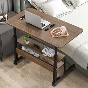 Computer Desk w/Wheel Bed Sofa Tray Adjustable Height PC Table Study Home Office