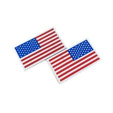 Infrared IR Full Color US Flag Patch Forward & Reverse VELCRO® Brand, Set of 2