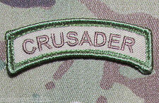 CRUSADER ROCKER TAB USA ARMY MILITARY INFIDEL ISAF MORALE MULTICAM VELCRO PATCH