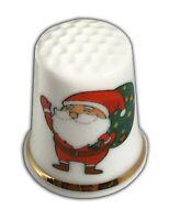 Personalised Christmas Santa Bone China Thimble, Christmas Stocking Filler