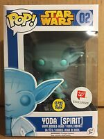 Funko Pop! Star Wars Yoda (Spirit) EXCLUSIVE GLOW IN THE DARK #02 *NEW *Rare