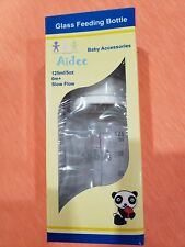 Aidee Baby Glass Feeding Bottle with Silicone Nipple 5 Oz / 125 ml Each