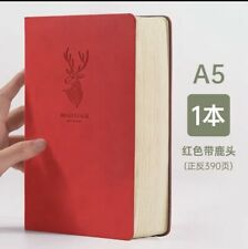 A5 luxury Thick Leather Notebook With Calendar And Address List 390 pages