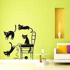 Cats Wall Decals Veterinary Pets Decal Vinyl Sticker Pet Shop Decor Art Chu1064