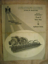 Operators Manual Setting Up Inst. No. 3 & 4 Rotary Hoes & 18 Implement carrier