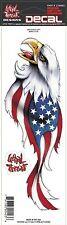 Lethal Threat US USA Flag Eagle Sticker Decal For Windshield Fairing Fork Fender