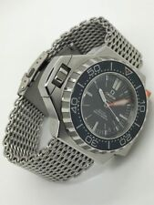 Original FLAT SHARK MESH watch bracelet 24mm W/O fits Omega Seamaster Ploprof
