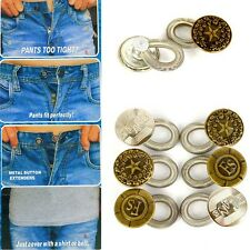 6 Pants Extender Waist Expanders Button Jeans Maternity Quick Fix Add an Inch