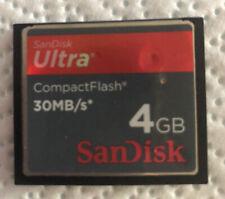 SanDisk 4GB Ultra 30MB/S CF CompactFlash Memory Card