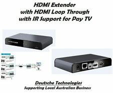 HDMI Extender over IP-with IR over CAT5/6 Sender&Receiver Cascadable Pay TV ok