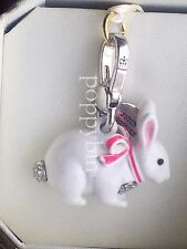 BRAND NEW! JUICY COUTURE SNOW BUNNY BRACELET CHARM IN TAGGED BOX