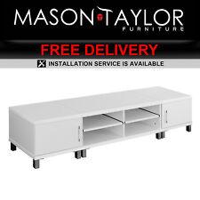 Mason Taylor Lowline Cabinet TV Stand Entertainment Unit FURNI-TV-190-WH-AB