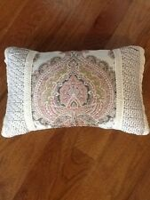 "NEW CROSCILL 12"" X 20"" Pink, Green & Cream Giuletta Decorative Pillow"