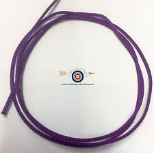 3' BCY Flo. Purple/Black Speckled D Loop Material Archery Bowstring Rope