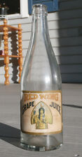 Vintage RED WING GRAPE JUICE Labeled bottle -Indian Maiden label, FREDONIA, N.Y.