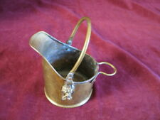Small All Brass Bucket Planter Vintage with lion heads & in Very Good Condition