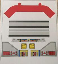 Daimos Popy Jumbo Machinder Shogun Warriors Decal Sticker Set - VINYL