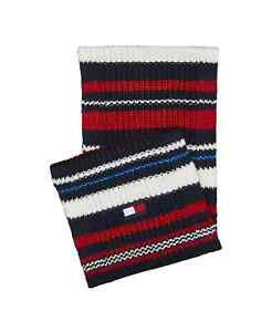 Tommy Hilfiger Men's Chunky Variegated Striped Scarf Multicolor-OSFA