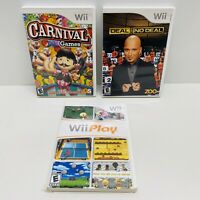 3 Game Wii Lot- Deal or No Deal, Wii Play, Carnival Games (Nintendo Wii, 2009)