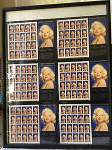 Marilyn Monroe Extremely Limited Edition Signed and Numbered 6 Sheet US Stamps