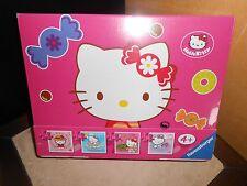 valise de 4 puzzles HELLO KITTY 2x 25 + 2x 36 pièces - sous blister
