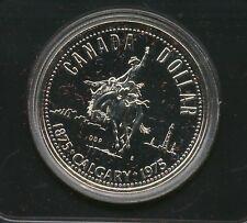 1975 Canada Cased Silver Dollar CALGARY Stampede Commemorative