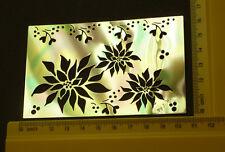 Brass/stencil/Emboss/Xmas/Poinsettia/Flower/Floral