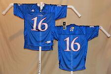 KANSAS JAYHAWKS   #16  Football Jersey  ADIDAS   Youth XL    NWT  $45 retail  bl