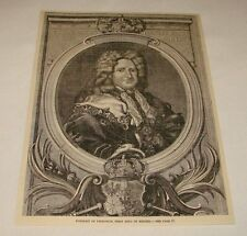 1885 magazine engraving ~ PORTRAIT OF FRIEDRICH, King of Prussia