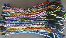 Wholesale 25 colorful twisted friendship bracelets handmade Peruvian lot